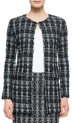 St. John Collection Textured Sparkle Tweed Jacket $1,695 thestylecure.com