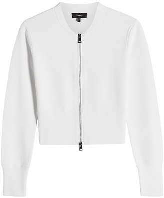 Theory Zipped Knit Bomber Jacket