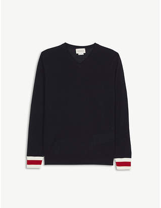 Gucci Classic v-neck wool jumper 4-12 years