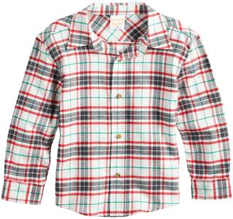 Toddler Boy Jumping Beans Plaid Flannel Button Down Shirt