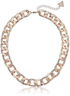 GUESS Women's W Stones Hot in The City Chain Necklace