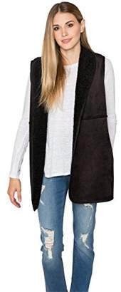 Velvet by Graham & Spencer Women's Reversible Lux Sherpa Vest