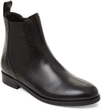 Alaia Black Laser Cut Leather Chelsea Boots