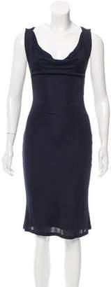 Alexander McQueen Sleeveless Knee-Length Dress