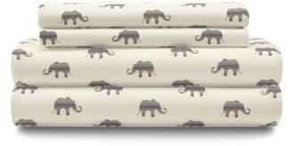 Unbranded Microfiber Elephant Print Sheet Set