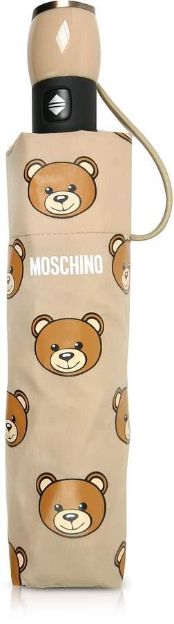 Moschino Teddy Heads Dark Beige Mini Umbrella