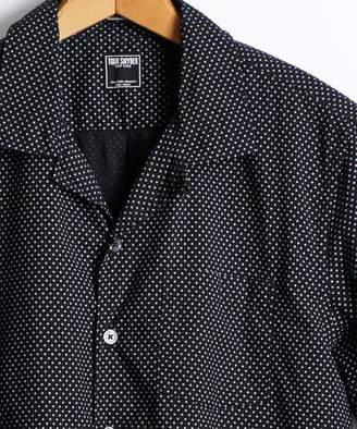 Todd Snyder Short Sleeve Polka Dot Camp Collar Shirt