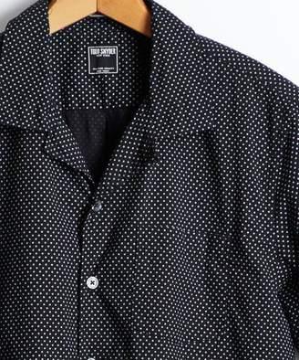 Todd Snyder Short Sleeve Polka Dot Camp Collar Shirt