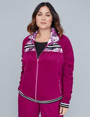 Lane Bryant Active Jacket - Ruched Colorblock