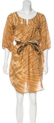 Miguelina Long-Sleeve Midi Dress