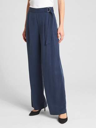 Gap High Rise Belted Wide-Leg Pants in TENCEL