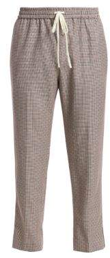 Gucci Houndstooth Wool Mohair Pants