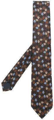 Ermenegildo Zegna leaf embroidery tie