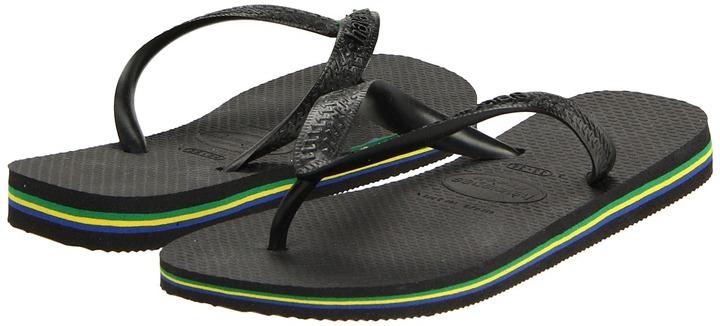 Havaianas - Brazil Women's Flip Flops (Black) - Footwear