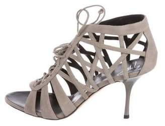 Giuseppe Zanotti Suede Cutout Sandals