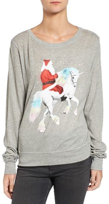 Women's Wildfox Unicorn Sleigh Tee $78 thestylecure.com