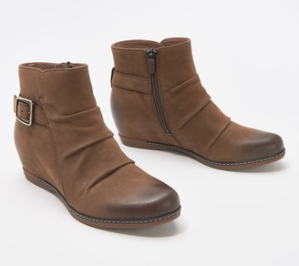 Dansko Burnished Nubuck Leather Wedge Boots - Lia