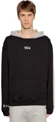 RtA 90's Printed Two Tone Cotton Sweatshirt