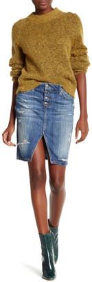 Joe's Jeans Distressed Front Slit Denim Skirt $169 thestylecure.com