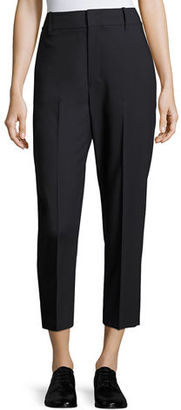 Vince High-Rise Wool Crop Trousers $335 thestylecure.com