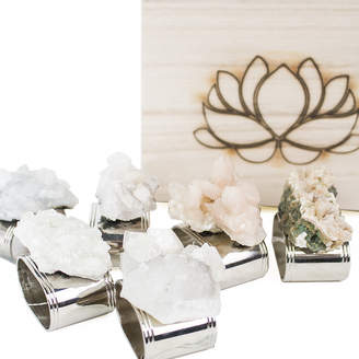 The Holistic Home Company Raw Crystal Napkin Rings (Set of 4 or 6)