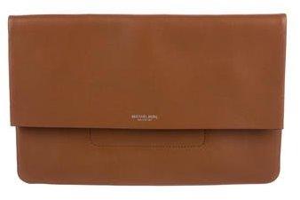 MICHAEL Michael KorsMichael Kors Fold-Over Leather Clutch