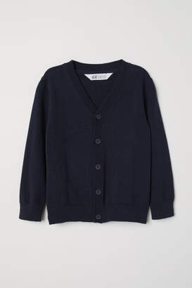 H&M Fine-knit Cardigan - Blue