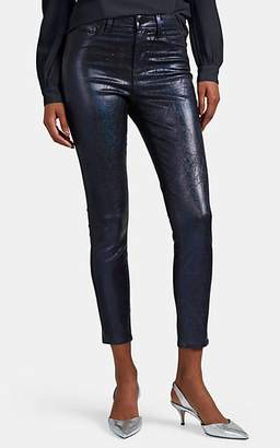 L'Agence Women's Margot High-Rise Coated Skinny Jeans - Navy