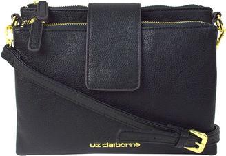LIZ CLAIBORNE Liz Claiborne Double Top-Zip Crossbody Bag $30 thestylecure.com