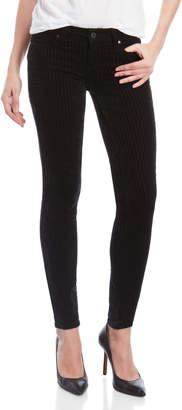 Paige Black Verdugo Velvet Stripe Skinny Jeans