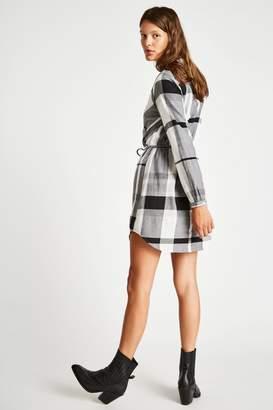 Jack Wills Dress- Millgate Checked Wrap Shirt