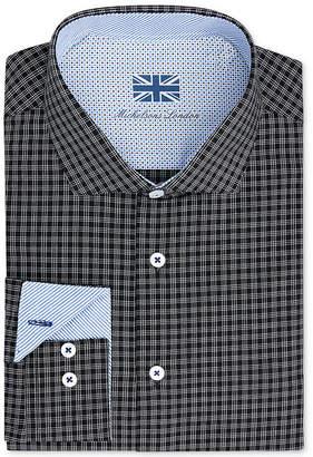 Michelsons of London Men Slim-Fit Performance Check Dress Shirt