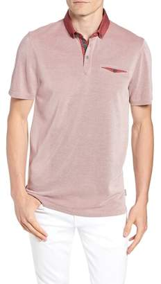 Ted Baker Beanz Slim Fit Pique Polo