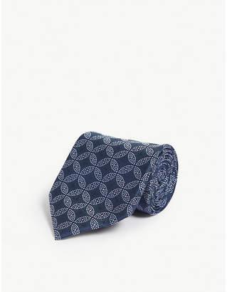 Charvet Geometric circle silk tie