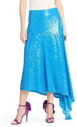 MSGM Asymmetrical Sequin Skirt