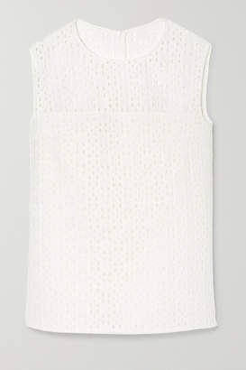 Akris Broderie Anglaise Top - White