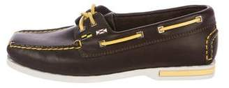 Louis Vuitton Leather Embellished Loafers