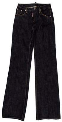 DSQUARED2 Mid-Rise Wide-Leg Jeans w/ Tags