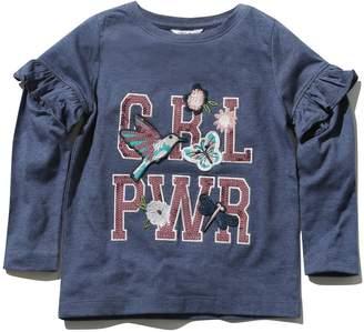 M&Co Girl Power slogan frill top