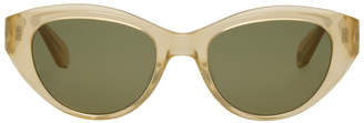 Garrett Leight Gold and Green Del Rey Sunglasses