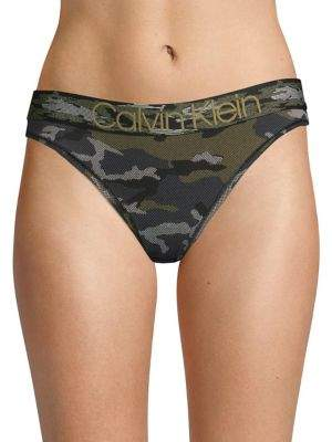 Calvin Klein Camo Cotton Printed Bikini Panty