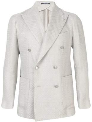 Tagliatore double breasted textured blazer
