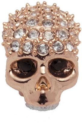 Alexis Bittar Rose Gold Tone Pave Skull Slide