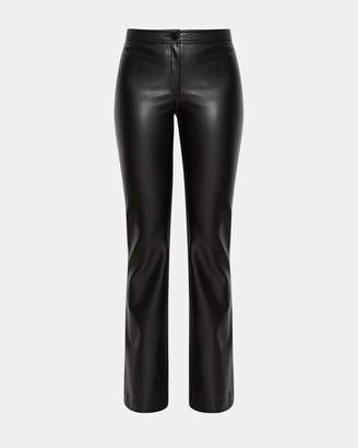 Theory Faux Leather Casual Flare Pant