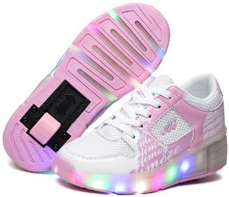 Ufatansy CPS Kids Girls Boys Light up Wheels Roller Shoes Skates Sneakers