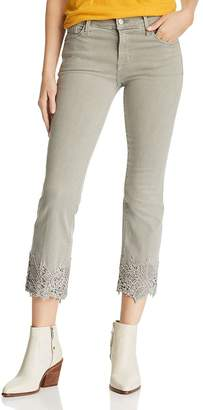 J Brand Selena Crop Bootcut Jeans in Faded Gibson