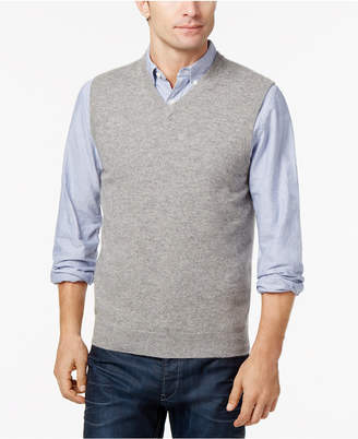 Club Room Men's V-Neck Cashmere Sweater Vest, Created for Macy's