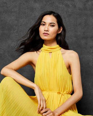 Ted Baker NADETTE Pleated collar maxi dress