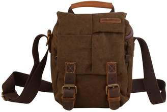 EAZO - Canvas & Leather DSLR Camera Bag in Brown