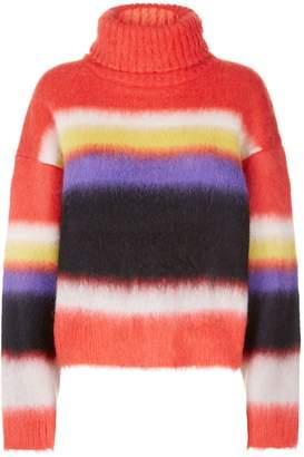 Diane von Furstenberg Striped Roll Neck Sweater